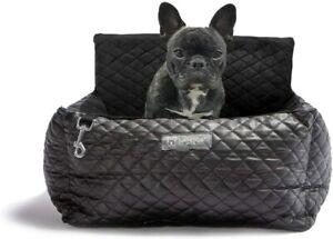 Dog Car Seat Vegan Leather (Black)