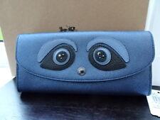 100% Authentic Coach Metallic Blue Character Eyes Purse Wallet Long BNWT