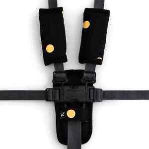 Outlook 3 Piece Harness Cover Set Black w/ Gold Spots Cotton Baby Comfort Cotton