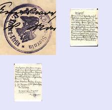 Pommern Kölpin-Sternin Kr. Kolberg-Körlin Siegelstempel auf Dokument