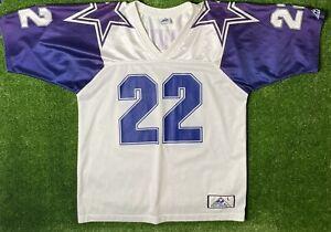Dallas Cowboys 22 Original Apex Jersey Emmit Smith Vintage SZ Large