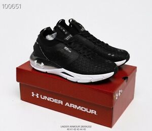 Black white Under Armour UA HOVR Phantom 2 ColdGear Reactor Men's Running Shoes