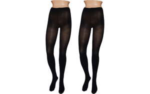 Legacy Graduated Compression Opaque Tights Set of Two Black/Espresso XL A269263