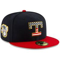 Texas Rangers Hat New Era 59Fifty Fitted 5950 Cap 7-3/4 4th of July Star Stripes