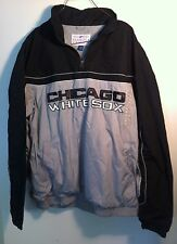 NEW CHICAGO WHITE SOX BASEBALL PULL OVER  JACKET  SIZE LARGE -100% POLYESTER-MLB