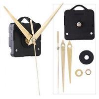 Quartz Movement Mechanism Silent Clock Gold Hands DIY Parts Kits Handwork P I3D0