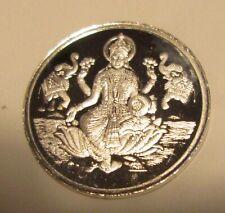 Diwali Lakshmi 5 Gram Silver Coin W/Ohm Praying India Hindu God New Year