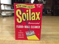 Vintage 1940's, Soilax FLOOR & WALL CLEANER, Unopened, NOS, EXCELLENT CONDITION!