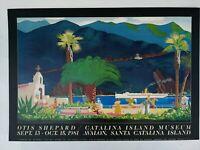 Otis Shepard CATALINA Island Museum Art Print Exhibition Poster 1981 Davis Blue