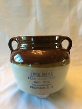 RED WING STONEWARE ADVERTISING BEAN POT FRED HAAR FARM MACHINERY FREEMAN S. D.