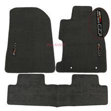 Fits 06-11 Honda Civic 2Dr 4Dr Grey Nylon Floor Mat Carpets Front Rear + Mugen