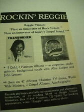 Reggie Vinson w/ Alice Cooper and John Lennon refs. 1980 music biz promo advert