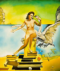 Leda Atomica by Salvador Dali Huge 120cm x 102cm Quality Canvas Print