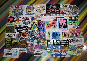 1 vtg 1980s surf sticker - mixed Rip Curl Blue Hawaii Astrodeck Peckers Motion