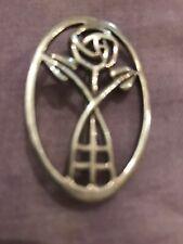 Retro Sterling silver Brooch Makers Mark HG