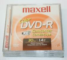 Pack of 3 Maxell Color Dvd-R Camcorder Disc 30 Minutes 1.4Gb
