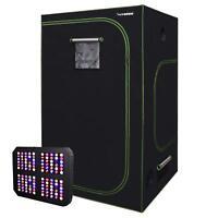"VIVOSUN 48""x48""x80"" Mylar Grow Tent Kit w/ 600W LED Grow Light for Indoor Plant"