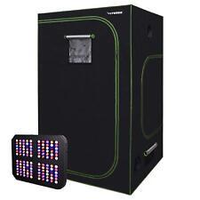 "VIVOSUN 48""x48""x80"" Grow Tent Kit w/ 600W LED Grow Light Veg Flower Indoor Plant"
