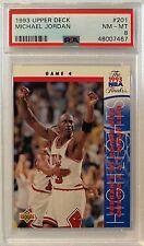 1993 Michael Jordan Upper Deck #201 PSA 8 NM-MT GOAT HOF