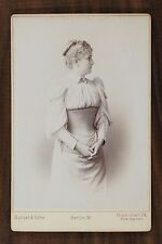 Jenny Gross, Actrice de Théâtre,Cabinet card,  Photo Bunzel & Sohn Berlin