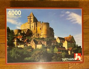RARE Jeux Nathan 4000 Piece Jigsaw Puzzle - Chateau en Dordogne (France) 1988y
