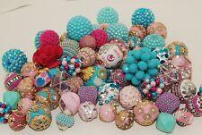 New 20 Piece Jesse James Fancy Boho, Indonesian Beads, Woven, Crystal JJB505