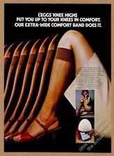 1975 Leggs L'Eggs Knee Highs nylons photo vintage print ad