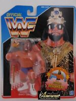 Hasbro WWF Macho King Randy Savage Wrestling '91 Blue Card Figure Wrestler WWE