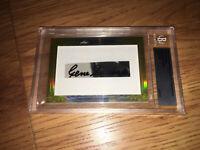 Gene Sarazen 2014 Leaf Masterpiece Cut Signature autographed signed card 1/1 JSA