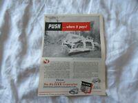 1950 Oliver Cletrac tractor print AD
