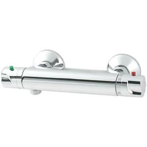 Cooke & Lewis Torba Exposed Thermostatic Mixer Shower Valve Tap Fixed Chrome UK