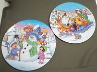 "Lot/2 McDonald's Plates Winter Scenes Diameter 9"""
