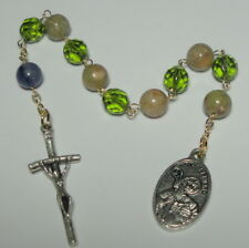 St Bernard of Clairveau 1-Decade Rosary w Pope's Crucifix Patron Bees Beekeepers