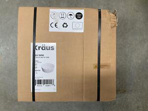 """Kraus - White Matte Sink - 15"""" D & 4.9"""" H - (Read)"""