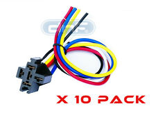 10 Pack 30/40/50 Amp 12V Dc Bosch Style Relay Harness Socket + 100% Copper Wire