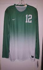 Nike Long Sleeve Jersey #12 Green Size Medium New