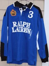 NEW- Polo Ralph Lauren Men's Snow Polo Challenge Cup Crest Rugby Shirt Size L