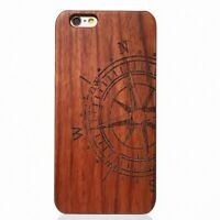 Compass Design Wood Case For iPhone 6/6s/7/8/SE 2020