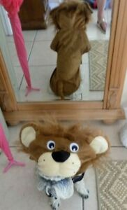 LION COSTUME FOR HALLOWEEN FOR YOUR DOG -SIZE MED -NIP