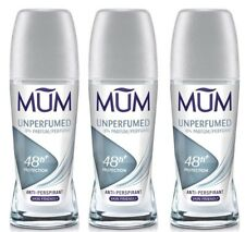 MUM Roll on Deodorant Anti Perspirant Unperfumed 50ml Bottle