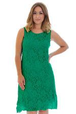 Ladies Dress Womens Floral Lace Tunic Flapper Sleeveless Plus Size Nouvelle Jade 24-26