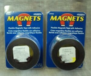 """THE MAGNET SOURCE Lot/2 Rolls ~ Flexible MAGNETIC Adhesive TAPE 07053 ~ 1"""" x 30"""""""