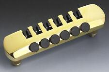 NEW - Schaller Stop Tailpiece Guitar Bridge with Fine Tuning Tuners - GOLD
