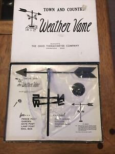 "Vintage Ohio Thermometer Co Weathervane New in Box NOS 11.25"" x 8.25"""
