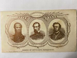 civil war patriotic envelope, General Grant, Commodore Foote, Magnus, Ft. Henry
