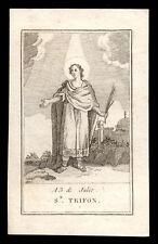 santino incisione 1700 S.TRIFONE M.