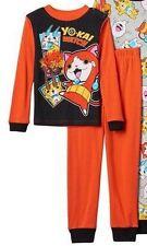 Nintendo YO KAI Watch Pajamas Boy's 6 NeW Black/Orange Shirt Pants SNUG FIT Pjs