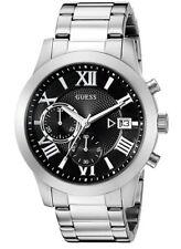 mens guess watch Silver  Quartz New Water Resistant Chronograph 44.5mm U0668G3