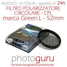 Filtro Polarizzatore Circolare d.HD  CPL 52mm Canon Nikon Sony HD