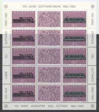 TRAIN CHEMIN DE FER Suisse bloc de 1982 **